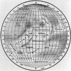 Antoniadi's map of Mercury