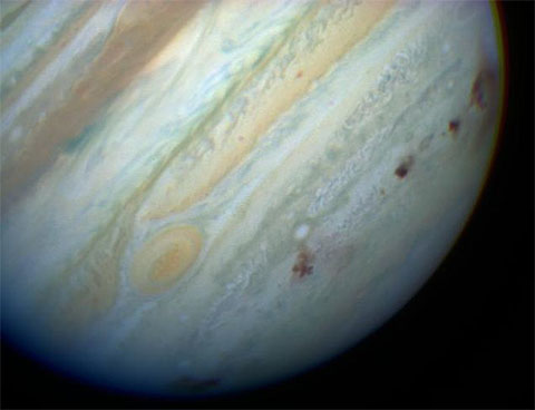 Showmaker-Levy 9 impacts on Jupiter