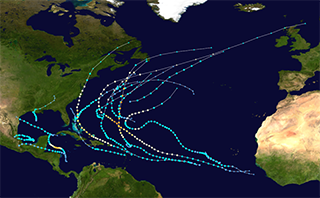 Atlantic hurricane tracks 2011