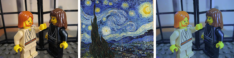 in the mood of van Gogh's Starry Night